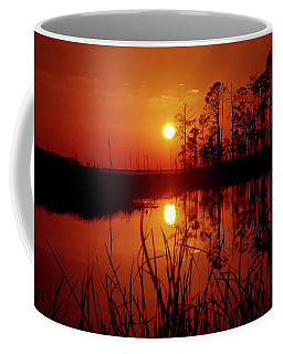Coffee Mug featuring the photograph Wetland Sunset by Robert Geary