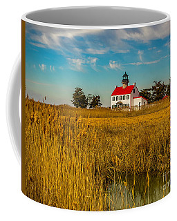 Coffee Mug featuring the photograph Wetlands At East Point Light by Nick Zelinsky