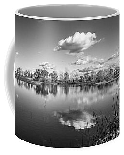 Wetlands Panorama Monochrome Coffee Mug