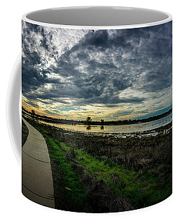 Wetlands Sunset Panorama Coffee Mug