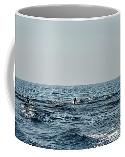 Coffee Mug featuring the photograph Whale Watching And Dolphins 2 by Enrico Pelos