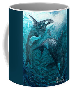 Whales  Ascending  Descending Coffee Mug