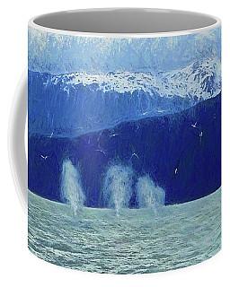 Whales Blowing Coffee Mug