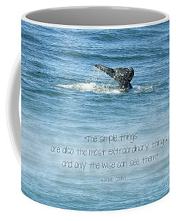 Coffee Mug featuring the photograph Whale's Tail by Peggy Hughes