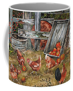 Coffee Mug featuring the painting What A Find by Val Stokes