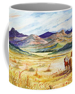 Coffee Mug featuring the painting What Lies Beyond by Marilyn Smith