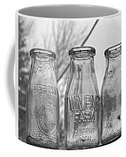 What The Milk Man Left, Bw Coffee Mug by Sandra Church