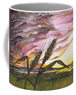 Coffee Mug featuring the painting Wheat Field by Darren Cannell