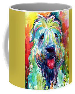 Wheaten Terrier Dog Portrait Coffee Mug by Svetlana Novikova