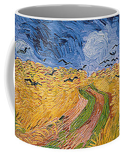 Wheatfield With Crows Coffee Mug