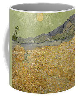 Wheatfield With Reaper Coffee Mug