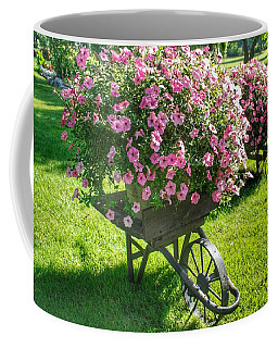 2004 - Wheel Barrow Full Of Flowers Coffee Mug