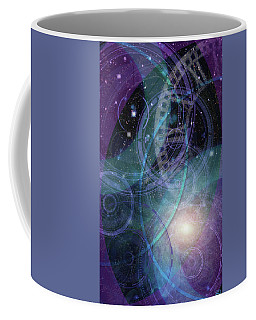 Coffee Mug featuring the digital art Wheels Within Wheels by Kenneth Armand Johnson
