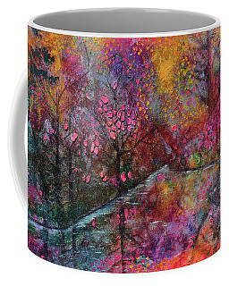 When Cherry Blossoms Fall Coffee Mug by Donna Blackhall