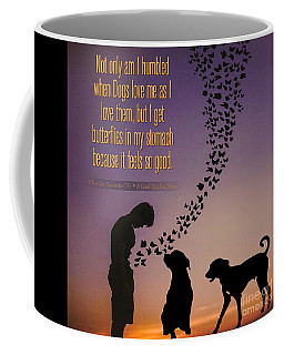 Coffee Mug featuring the digital art When I Get Butterflies by Kathy Tarochione