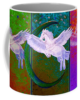 When Pegasus Dances With The Stars And The Moon Coffee Mug by Kimberlee Baxter