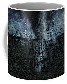 When The Tornado Hit The Bridge Coffee Mug