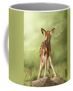 Coffee Mug featuring the painting Where Is My Mom? by Veronica Minozzi