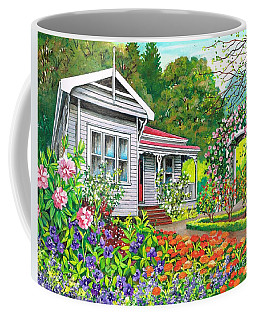 Coffee Mug featuring the painting Where Memories Linger by Val Stokes