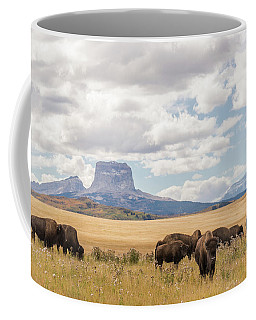 Where The Buffalo Roam Coffee Mug by Alex Lapidus