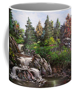 Where The Water Flows Coffee Mug by Megan Walsh