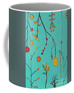 Coffee Mug featuring the painting Whimsical Abstract  by Patricia Cleasby