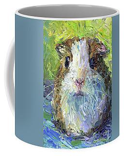 Whimsical Guinea Pig Painting Print Coffee Mug