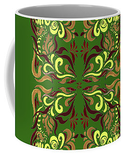 Whimsical Organic Pattern In Yellow And Green II Coffee Mug