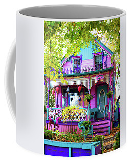 Whimsical Cotton Candy House Coffee Mug