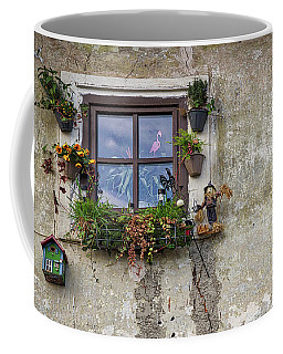 Coffee Mug featuring the photograph Whimsical Window - Slovenia by Stuart Litoff