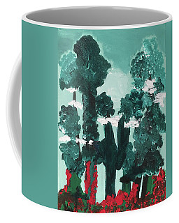 Whimsical Wintry Trees Coffee Mug