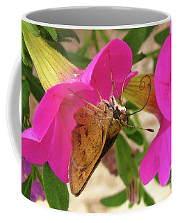 Whirl-about Skipper Butterfly Coffee Mug by Donna Brown
