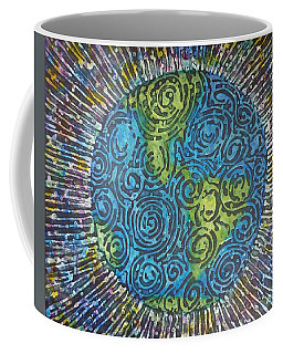 Coffee Mug featuring the painting Whirled Piece by Amelie Simmons