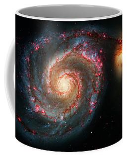 Whirlpool Galaxy  And Companion Galaxy Coffee Mug