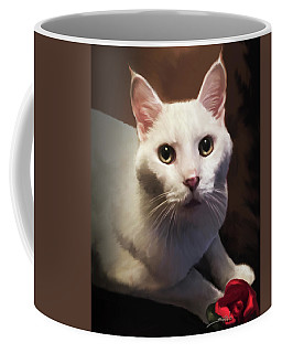 Whiskers And Rose Coffee Mug