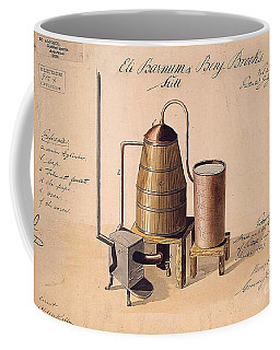 Coffee Mug featuring the drawing Whiskey Still Patent Print by Pg Reproductions