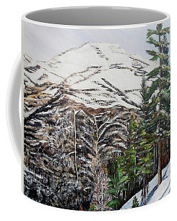 Coffee Mug featuring the painting Whispering Pines by Marilyn  McNish