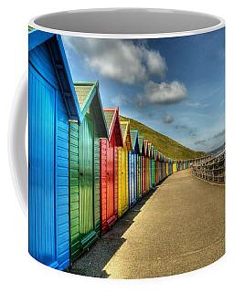 Whitby Beach Huts Coffee Mug