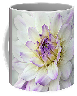 White And Purple Dahlia Coffee Mug