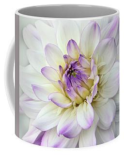 White And Purple Dahlia Coffee Mug