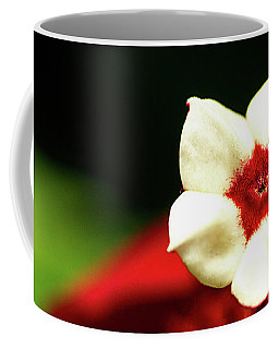 White And Red Flower Coffee Mug