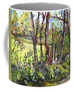 White And Yellow - An Unusual View Coffee Mug