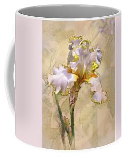 White And Yellow Iris Coffee Mug