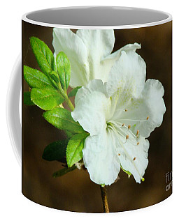 White Azalea  Coffee Mug by Rand Herron