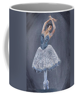 Coffee Mug featuring the painting White Ballerina by Jamie Frier