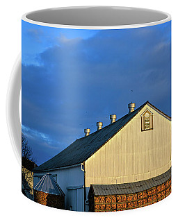 White Barn At Golden Hour Coffee Mug