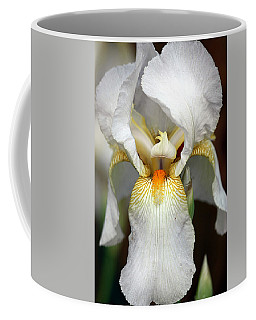 White Bearded Iris 2 Coffee Mug by Sheila Brown