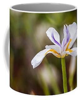 White Beardless Iris Coffee Mug