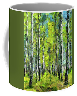 White Birches Coffee Mug