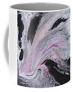 Coffee Mug featuring the painting White/black/pink by Jamie Frier
